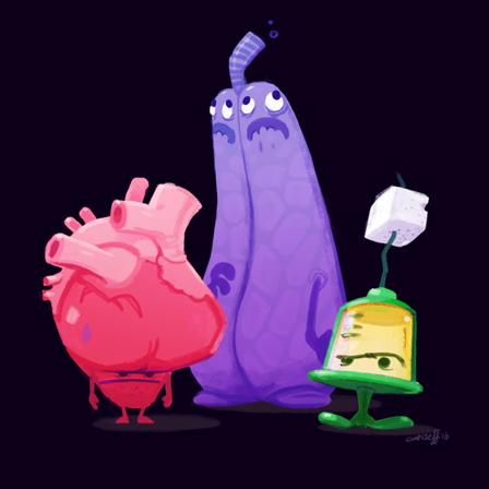 animation character design heart lung syringe - christian effenberger