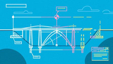 animation style frame construction plan bridge for deutsche bahn - christian effenberger