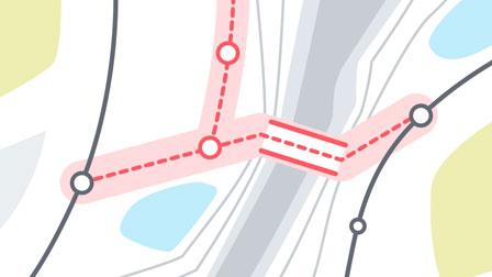 animation still map view railway bridge for deutsche bahn - christian effenberger