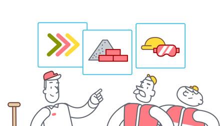 animation still construction workers for deutsche bahn - christian effenberger