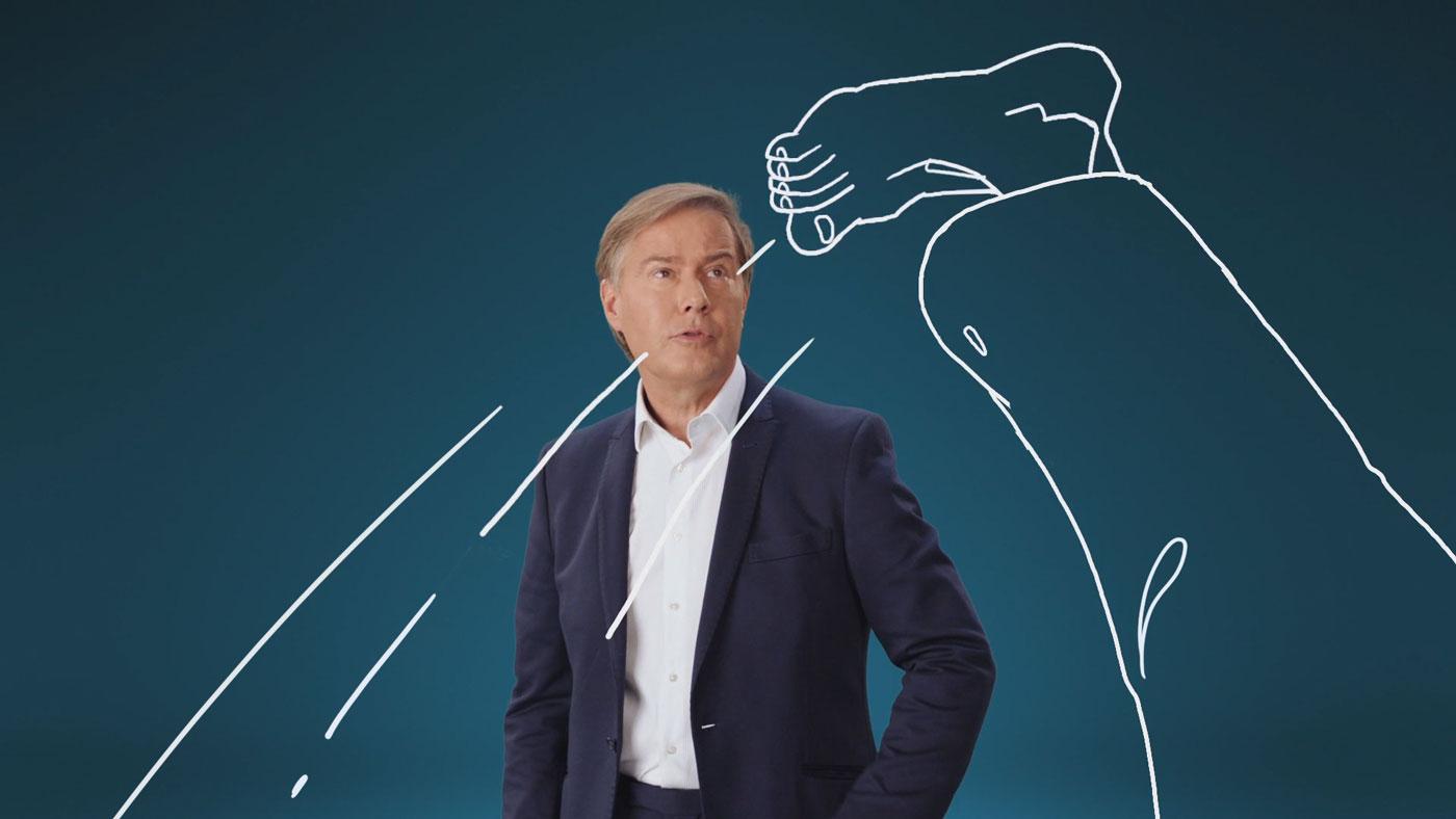 geh waehlen animation still with a high kick leg - christian effenberger