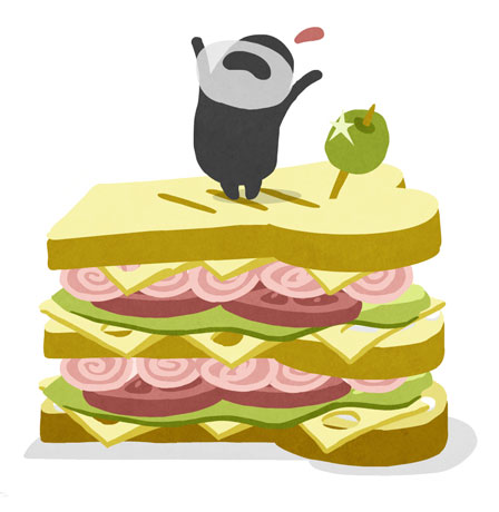 animation still with sandwhich for illustratoren organisation - christian effenberger
